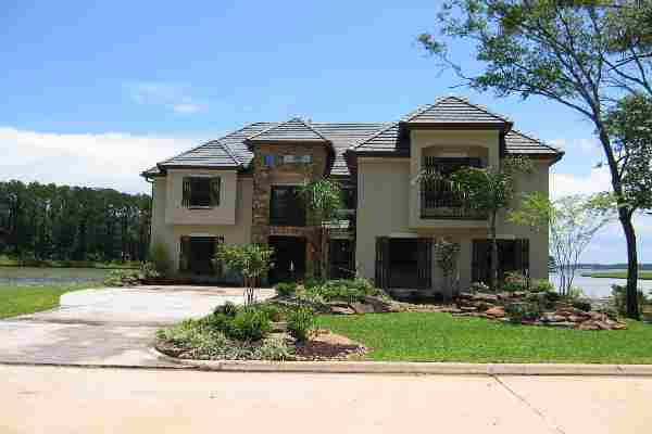 Lake conroe custom home